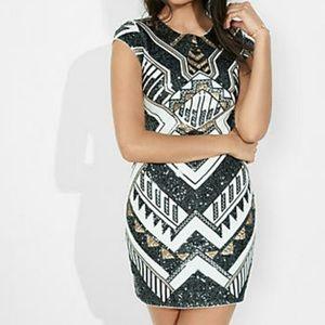 Express Sequin Dress Small